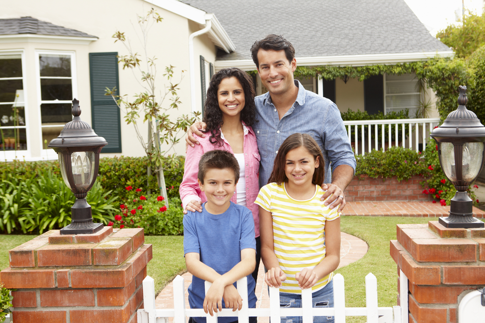 Healthy family with clean indoor air